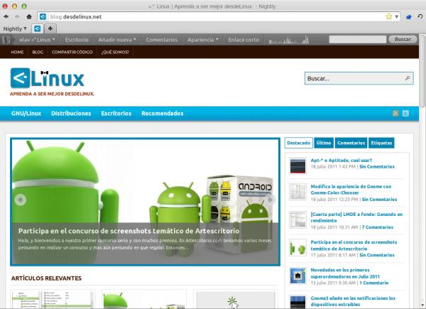 Firefox 8.0a1