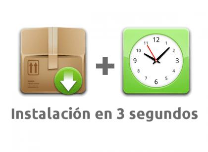 Instalación en 3 segundos