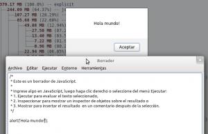 Una herramienta que nos permite probar código JavaScript directamente en el navegador