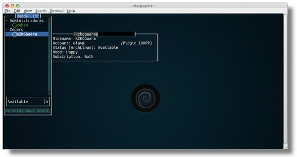 터미널 사용 : Finch, 인스턴트 메시징 클라이언트   Linux에서