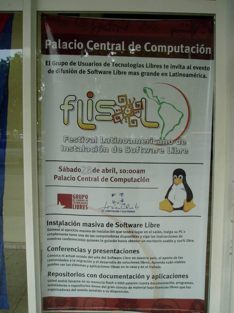 Cartel principal del FLISoL en La Habana