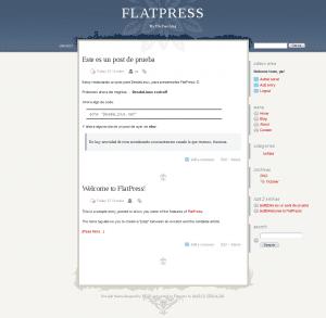 FlatPress con un theme