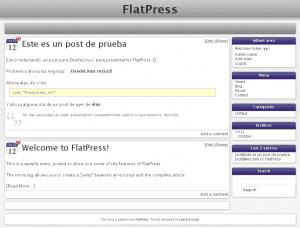 FlatPress con otro theme