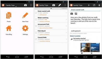 Aplicacion Blogger Mobile para Android actualizada