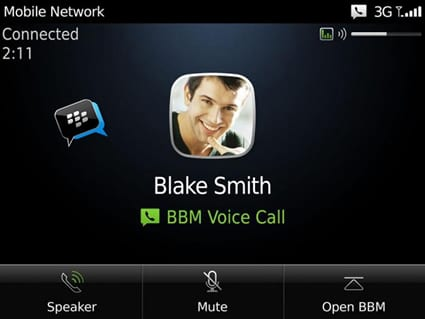 BlackBerry Messenger Voice – Habla gratis desde tu Blackberry