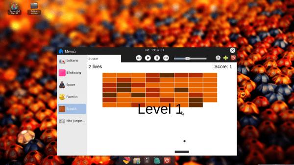 Juego desarrollado en html5 también funcionando desde el launcher