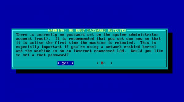 Slackware-21-password-root