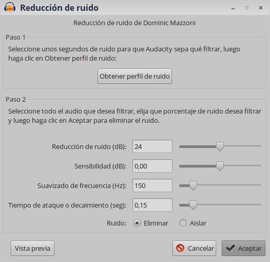 Audacity: cómo eliminar el ruido de fondo