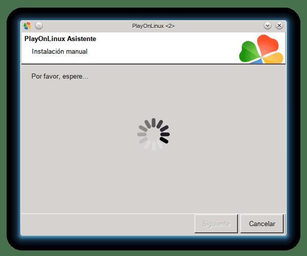PlayOnLinux por favor espere