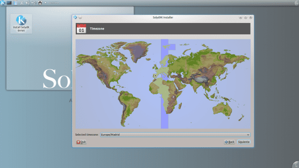 Instalador SolydXK - Configuración de zona horaria