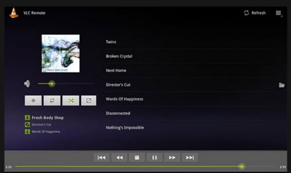Remote for VLC en acción