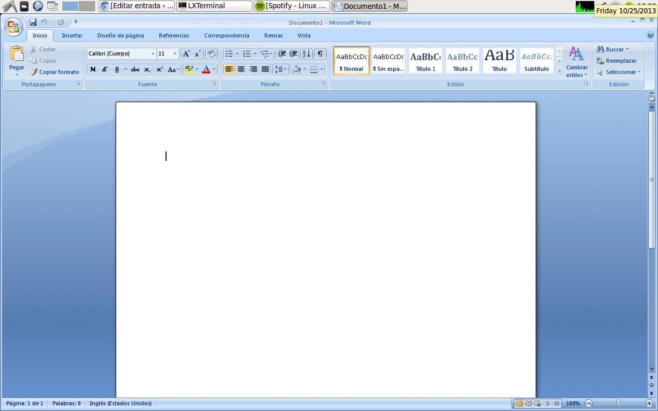 Instalar Microsoft Office 2007 en Ubuntu 12 04 y derivados