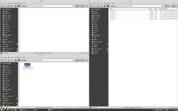 Edge-Tiling, permite hasta 4 ventanas en cada esquina de la pantalla