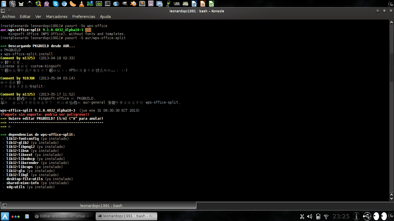 Kingsoft Office en ArchLinux