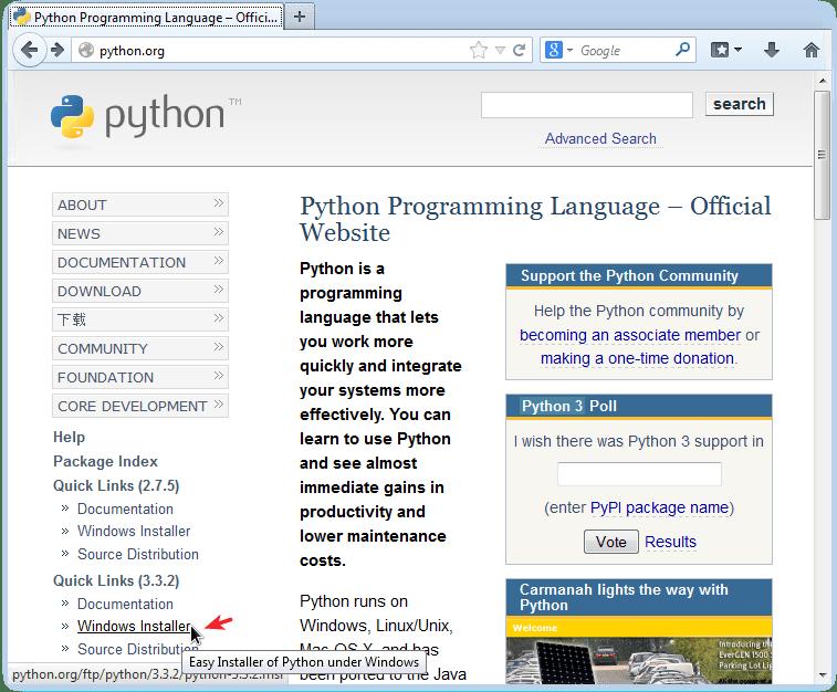 Descargar instalador Python