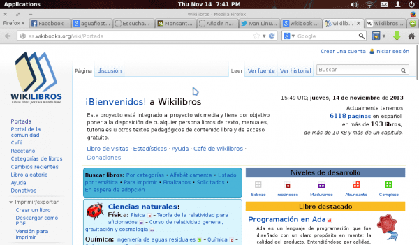 Portada de WikiLibros