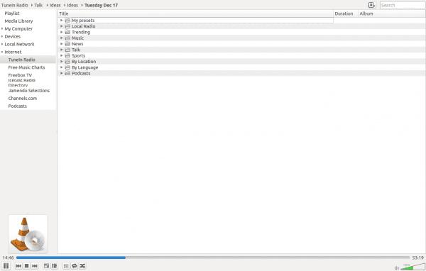 Complemento de Tunein para VLC
