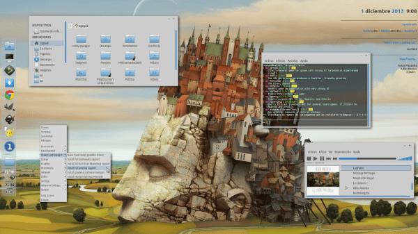escritorio linux