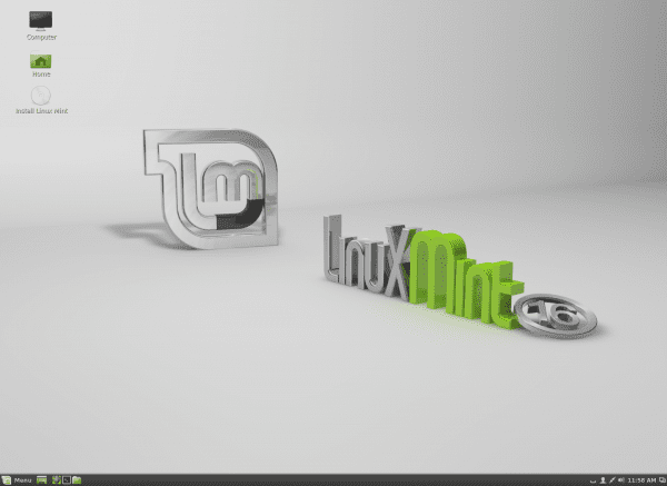 "Escritorio por defecto en Linux Mint 16 ""Petra"""