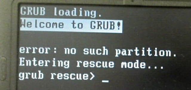 Cómo recuperar Grub 2 sin utilizar un live cd