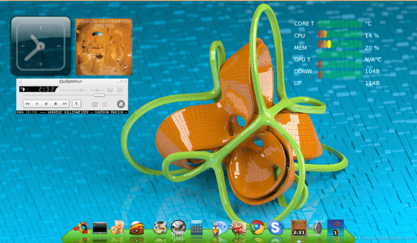 -Ubuntu 12.04 -Escritorio LXDE -Conky -Screenlets -Iconos Ubudao-style-1.4.5 -Cairo dock