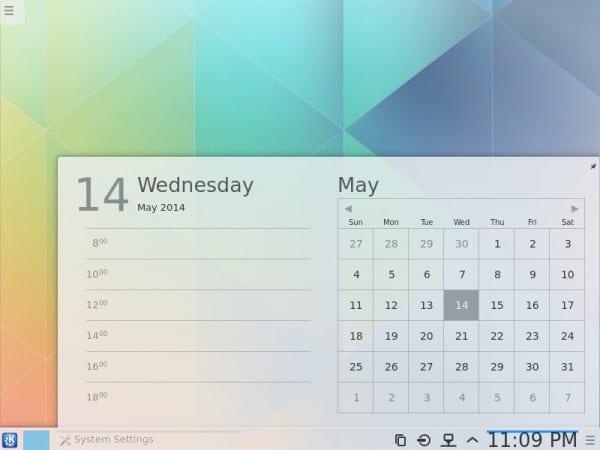 Plasma Next Calendario