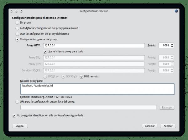 Usar proxy con autenticación en Firefox