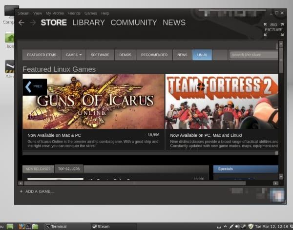 Steam en Linux Mint