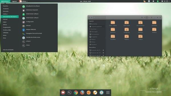 OS: Manjaro  Entorno: Gnome Shell Tema: ozon,  Tema gtk+: elementary dark Iconos: numix circle Dock: atom