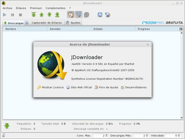 jDownloader Linux