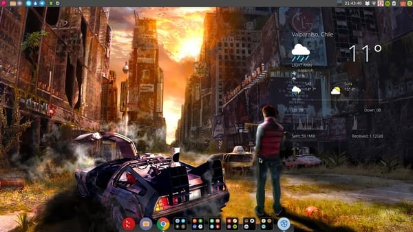 OS: #Debian theme:Greybird Conky:Google-Weather Icons:Numix-Circle Wallpapers:MCfly-Leyenda