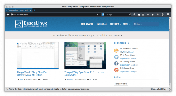Firefox Developer Edition1