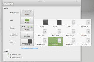 Linux Mint 17.1 Cinnamon Themes