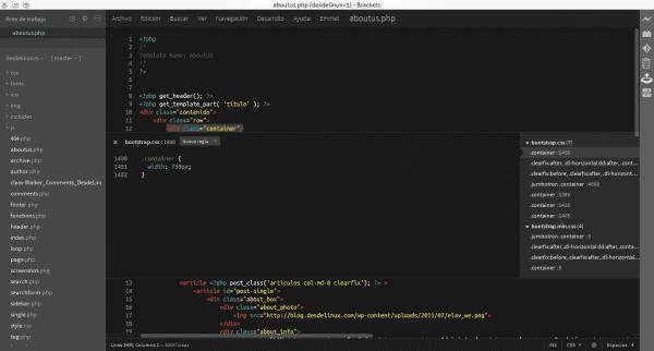 Brackets CSS Editor