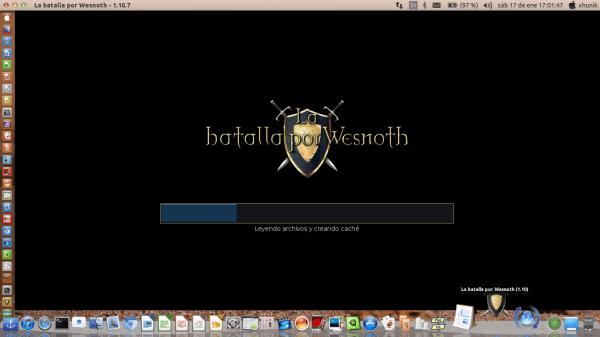 la pantalla de inicio de wesnoth