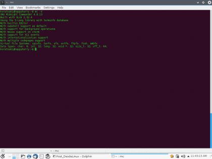 Output de la versión del MC con el soporte para samba...