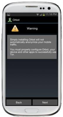Orbot Warning