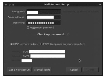 Creando cuenta de correo