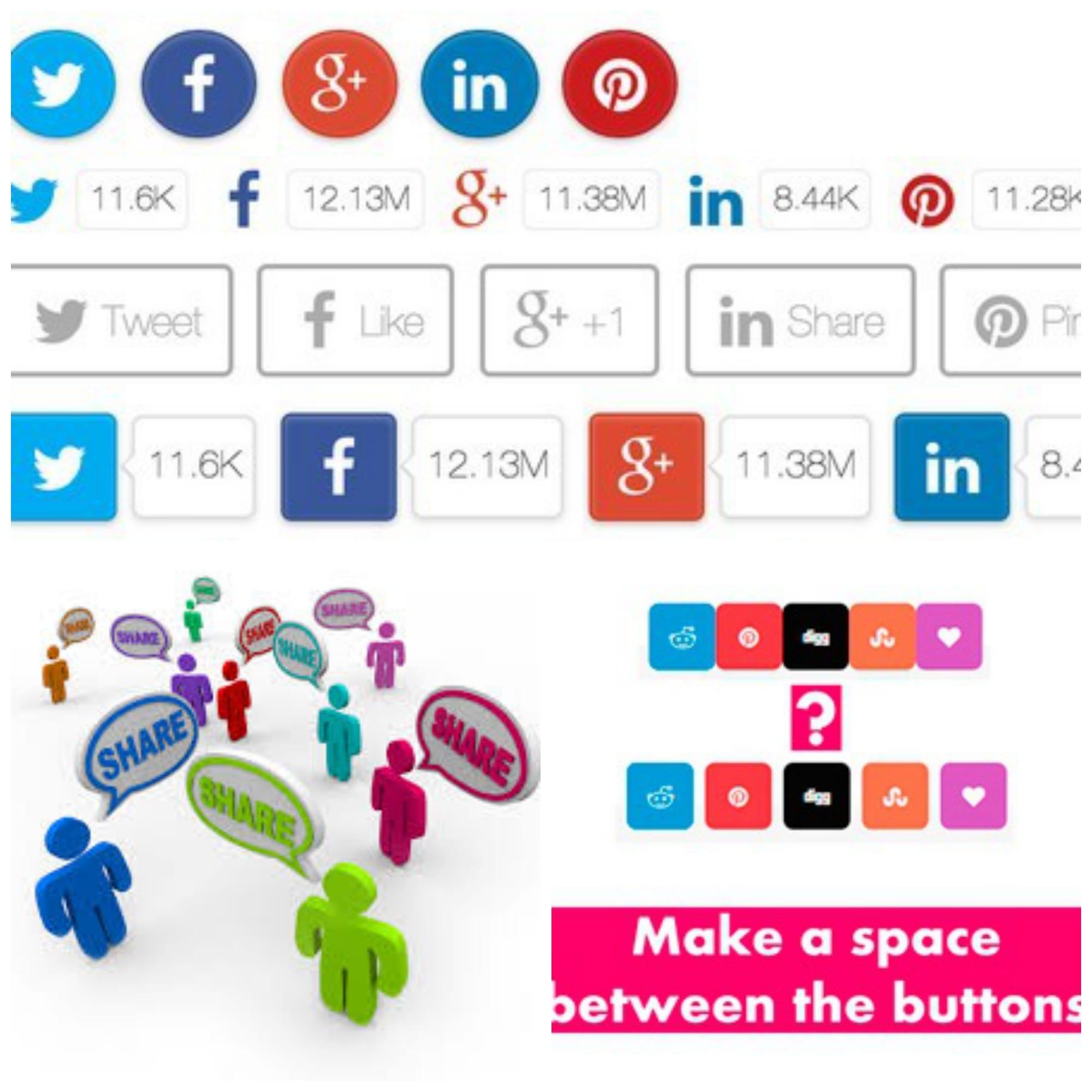 Social Share plugin, compartir en redes sociales con diseño responsive