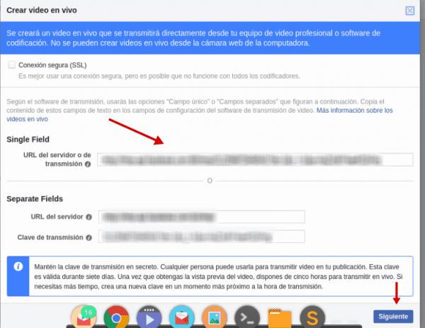 configuracion facebook libe