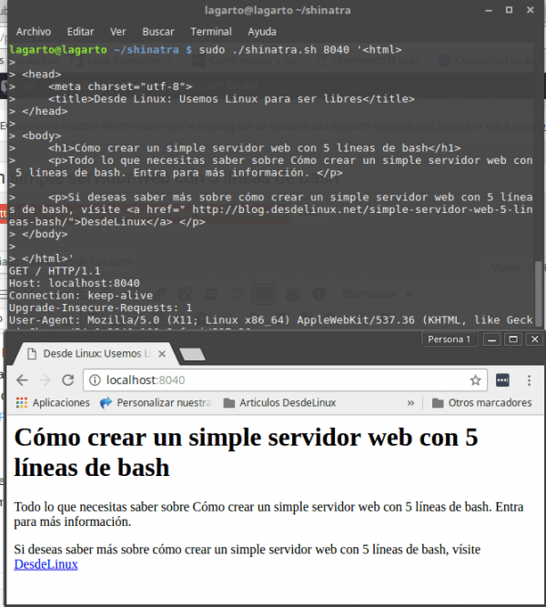 Crear un simple servidor web