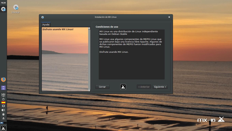 Instalador MX Linux