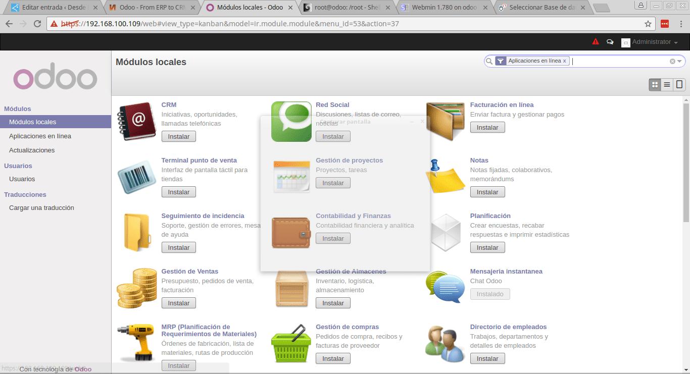 Odoo Turnkey Linux