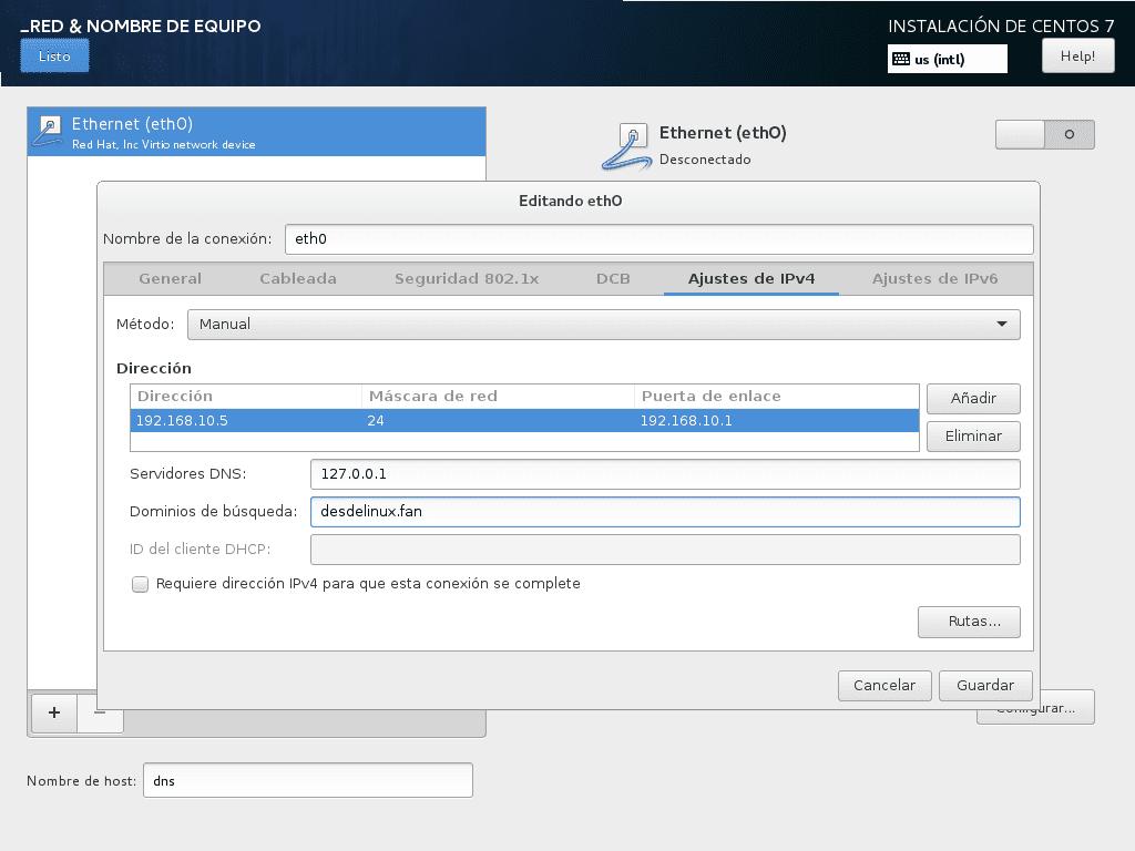 DNS y DHCP en CentOS