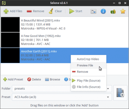 convertidor de audio y vídeo para Linux