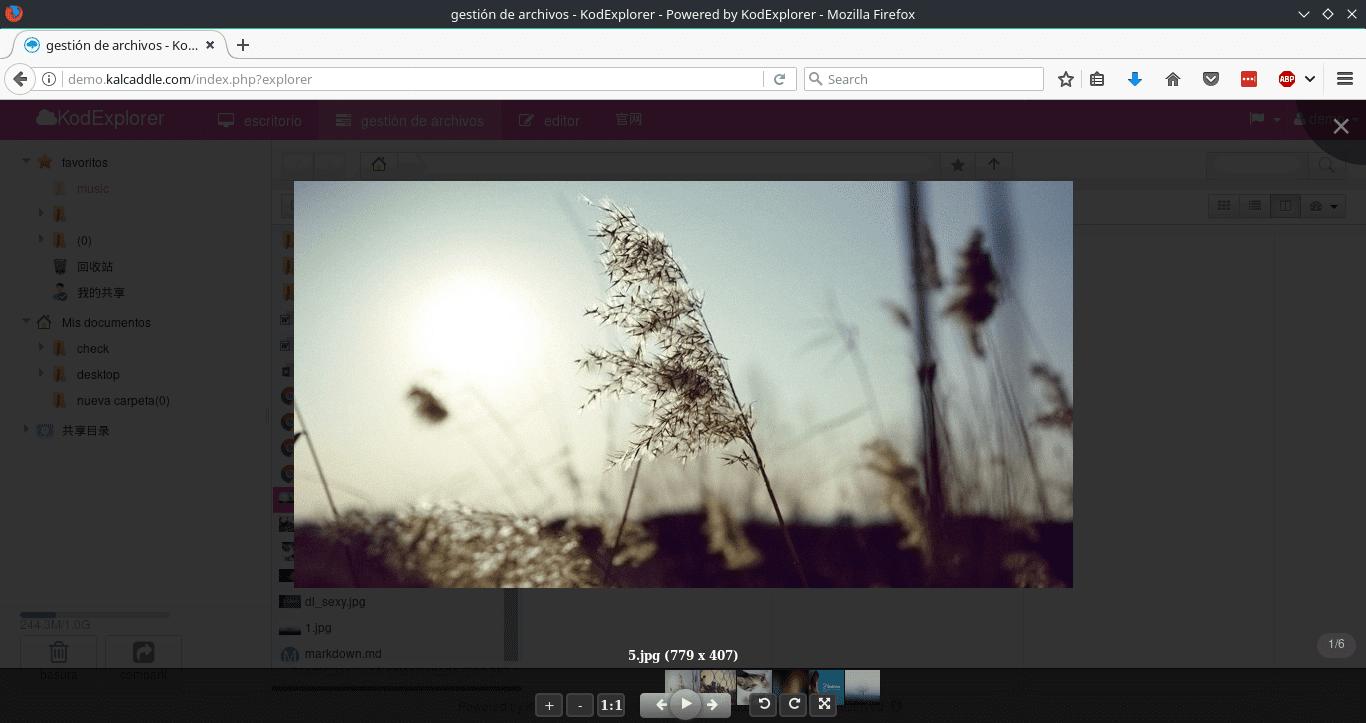 KodExplorer - Gestor de archivos online