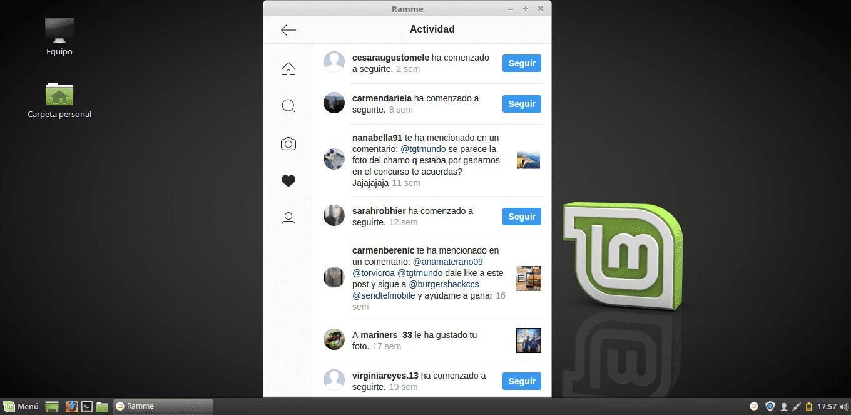 cliente de Instagram para Linux