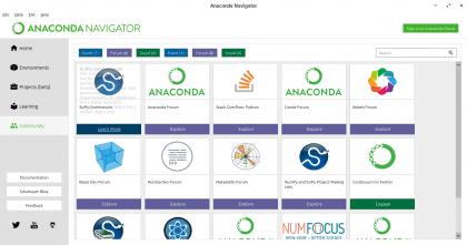 Anaconda Navigator - Comunidad