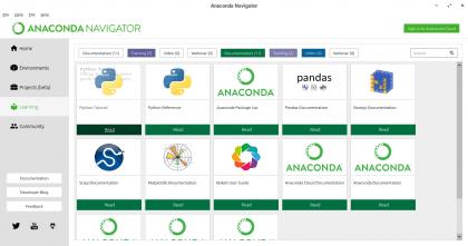 Anaconda Navigator Learning