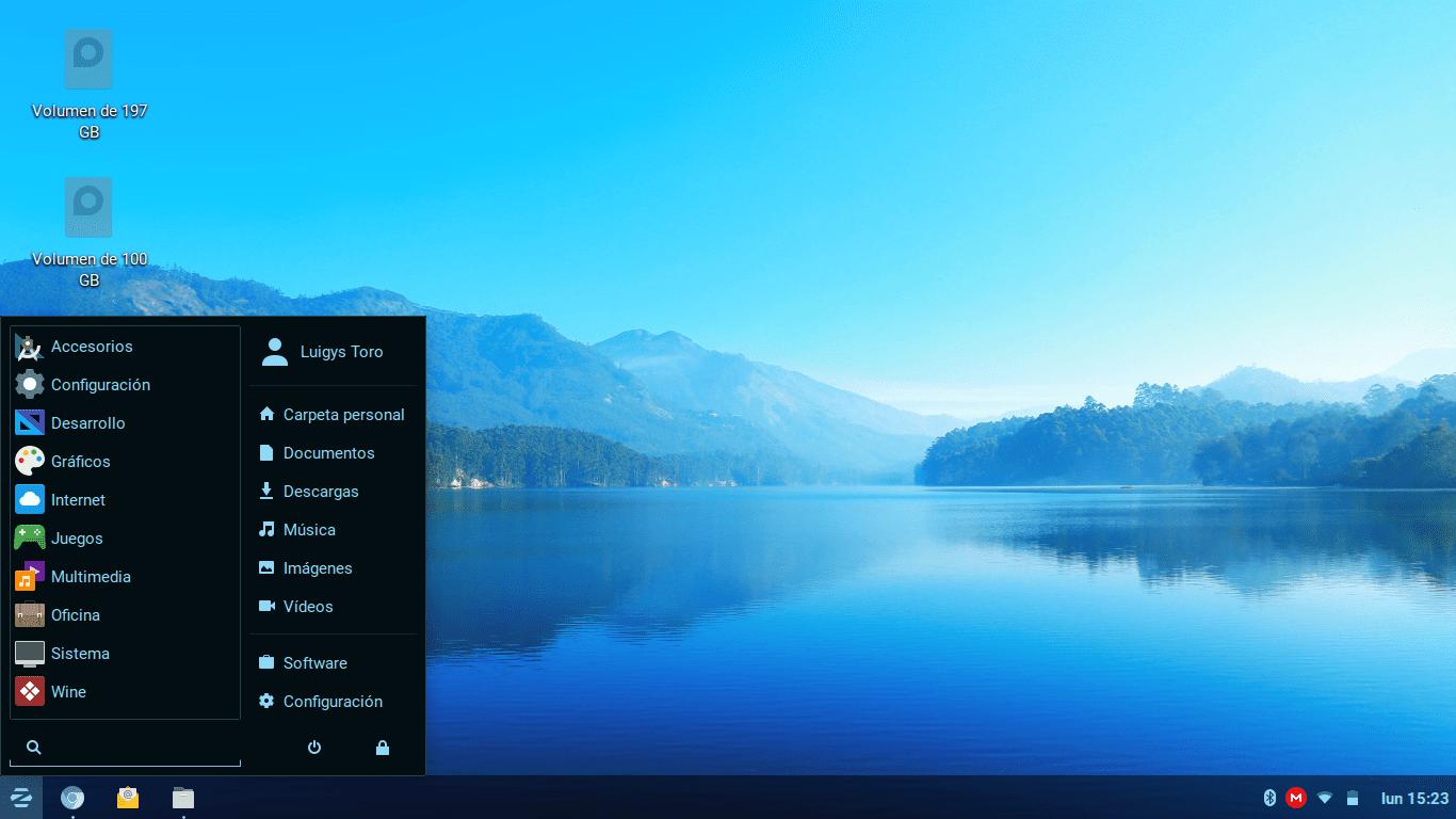 entorno Lite de Zorin OS